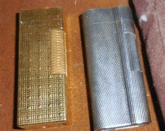 Dunhill Lighters Silver and Gold Vintage Sporty  Style Polo Anyone
