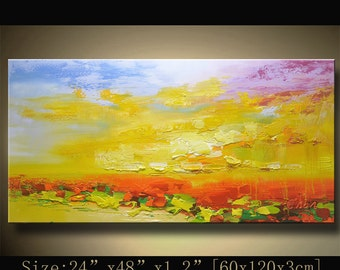 Abstract Large ORIGINAL Painting Modern Textured Painting,  Palette Knife, Home wall art Decor, acrylic art Painting on Canvas  by Chen 1027