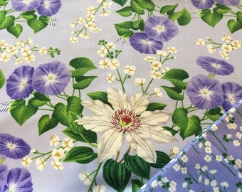 Insulated Casserole Carrier: Clematis on Periwinkle Blue, Personalization Available