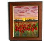 Wall Art Hanging textile painting Embroidery picture