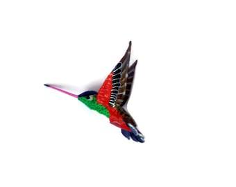 Paper machè Bird Sculpture  Hummingbird Art bird figurine