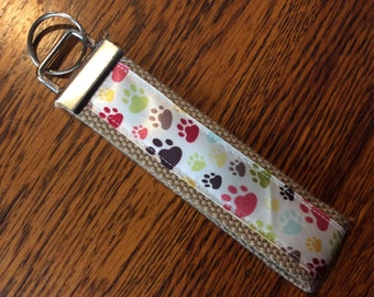 Dog key fob Personalized Key Fob Wristlet Key Chain Wristlet Key Fob Key Chain Wristlet Gift under 5 Ready to Ship New Driver Gift Teen Gift