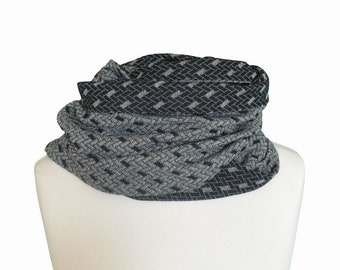 Retro Boho scarf for men, Infinity scarf / Man Neck scarf /  Man infinity scarfone of a kind  gift for men