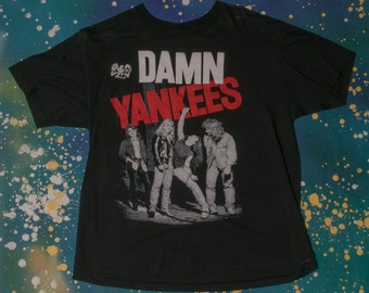 Damn Yankees 1990 Tour T-Shirt Size M