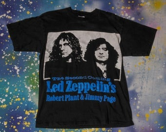 LED ZEPPELIN Page & Plant Classic Rock T-Shirt Size L