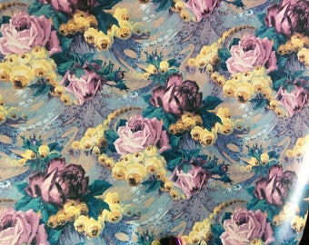 Floral vintage wrapping paper.