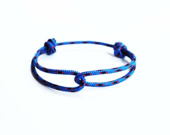 Rope Bracelet - Unisex Hugging Loop Rock Climbing Bracelet - Blue