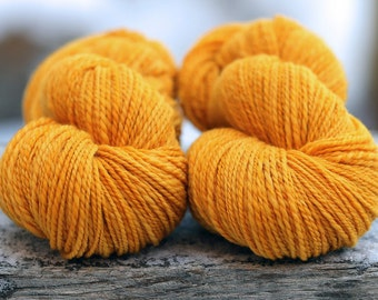 "RESERVED--Handspun Yarn DK Weight South African Superfine  ""Goldenrod""--265 & 228 yds."