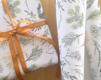 Sprigs Wrapping Paper