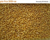 SALE - RR-191, Miyuki Rocaille Beads, Size 15/0, Opaque 24kt Gold Finished - 2 grams or, choose a Larger Pkg from the Menu