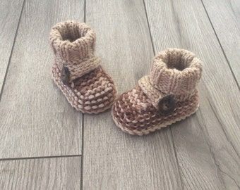 Hand knitted booties,Baby boy ,Newborn Photo Prop,Knit booties,