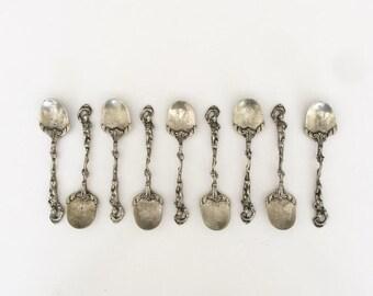 ON SALE Vintage Italian Ornate Demitasse Spoon Set