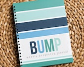 Bump Book™ - Pregnancy Journal - Pregnancy - Baby Book - Modern Baby Book - Navy + Turquoise