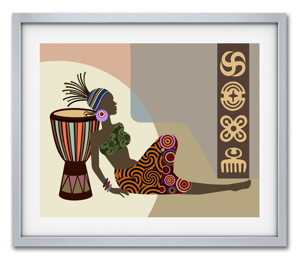 African wall decor african woman african artwork for African wall decoration