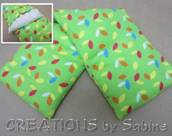 Corn Pillow Washable Cover Heating Bag Microwaveable Pack Heat Therapy green leaves woodland natural colorful leaf gift READY TO SHIP (484)