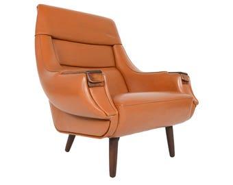 Danish Mid Century Modern H.W. Klein for Bramin Rosewood Lounge Chair