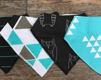 Embroidered Bandana Bibs 4 pack