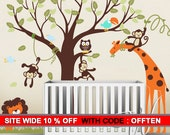 Wall Decal Safari Wall Decor- Nursery Room Decor