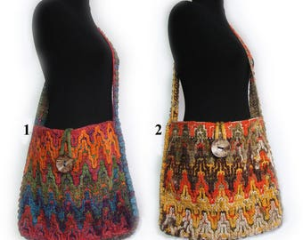 Crochet handmade bag,Colorful shoulder bag,Colorful bag,Crochet bag,boho crochet bag,Hippie bag
