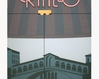Perry King-Rialto-1984 Serigraph