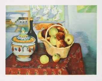 Paul Cezanne-Still Life with Apples-1970 Mourlot Lithograph