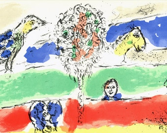 Marc Chagall-The Green River-1975 Lithograph
