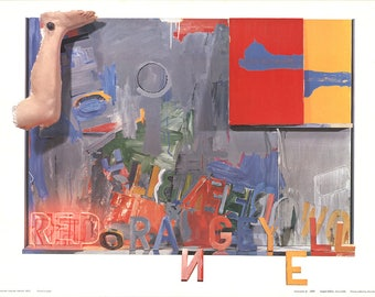 Jasper Johns-Passage II-1972 Poster