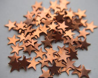 Vintage Copper Plated Stars Stamping / Finding x 25   #LLLL 8
