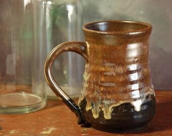 Large Handmade Stoneware Pottery Coffee Mug