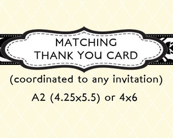 Coordinating Thank You Card - Design Add On