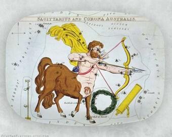Sagittarius constellation melamine platter
