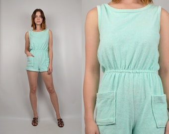 80's Terrycloth Romper Playsuit