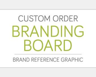 Custom BRANDING BOARD Design | Color Palette Fonts Type Pattern Inspiration | Business Identity Creative Graphic Design Art