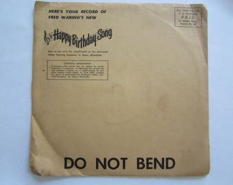 1949 Jolly Green Giant 7 Red Record, Happy Birthday Song, Fred Warings, Fo Fum Fi Fee