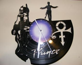 Prince Laser Cut Album Clock