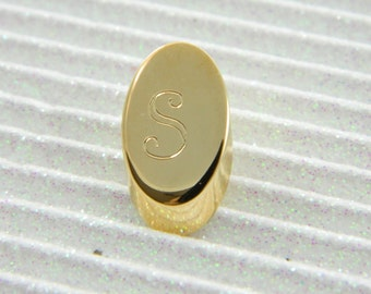 "Gold Monogram ""S"" Lapel Pin - Personalized Initial ""S"" Tie Tack"