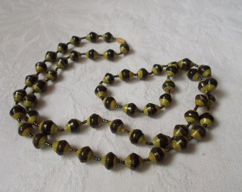 Stunning Vintage Necklace-2 Colored Beaded-N1813