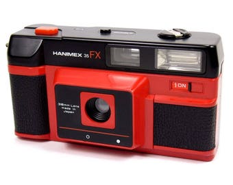 Cool Hanimex 35 FX Bold Red Vintage Compact Lomo Retro 35mm Film Camera Outfit