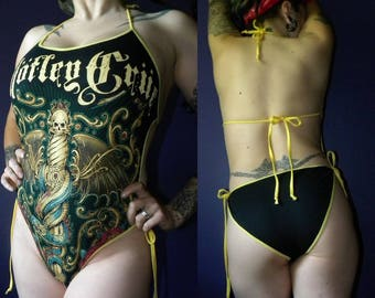 Motley crue swimsuit,heavy metal swimwear