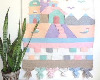 Pastel Southwestern Woven Wall Hanging Tapestry