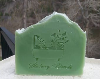 Moroccan mint scented bar soap, handmade,  gift soap, holiday gift,  stocking stuffer, birthday gift, housewarming gift