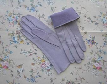 Vintage FOWNES Lavender Leather Gloves - 1960's
