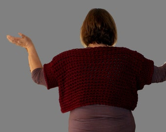 Oversized Sweater, Plus Size Sweater, Chunky Sweater, Womans Top, Burgundy Sweater, Crochet Top, Chunky Jumper, Oversized Vest, Pullover