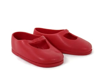 Ideal Doll Doll Shoes for Shirley Temple Red Rubber Shoes 7M-5347-2 Mary Janes