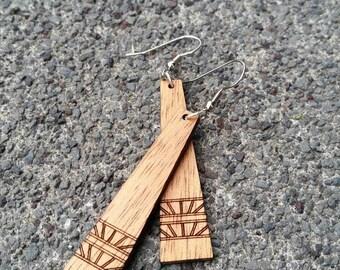 Koa Earring ~Hakalau~ Koa Wood Earring