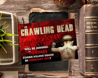 Funny Pregnancy Announcement / Walking Dead, The Crawling Dead / Funny Baby Announcement / Pregnancy Reveal Idea / Digital or Printed Cards
