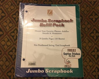 SCRAPBOOKING - Vintage New Jumbo  Blank Scrapbook Pages Refill Pack