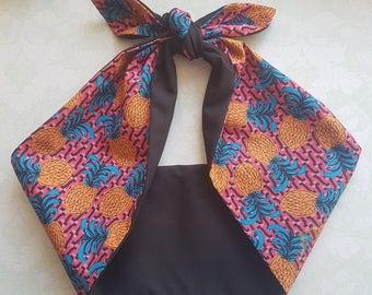 pineapple rockabilly  bandana,  rockabilly pin up psychobilly  hairband headband