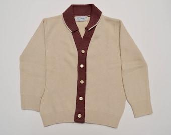 vintage baby boy cardigan sweater, 12 - 18 months, Friemanit