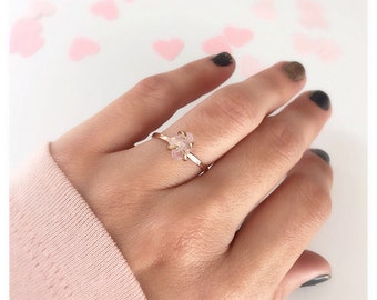 Rose Quartz Ring, Promise Ring,  Rose Quartz Engagement Ring, Rose Quartz Stone, Anniversary Ring, Rose Quartz Jewelry, Engagement Ring